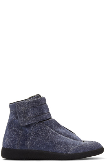 Maison Margiela - Blue Glitter Future High-Top Sneakers
