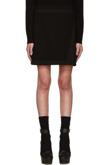Christopher Kane - Black Studded Miniskirt