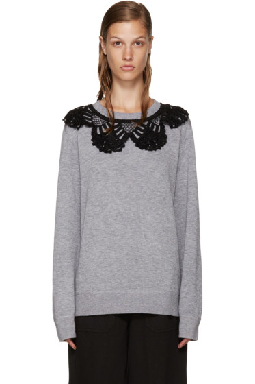 Marc Jacobs - Grey Crochet Collar Pullover