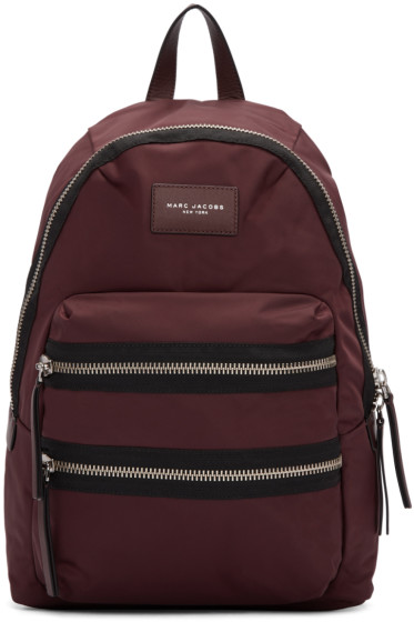 Marc Jacobs - Burgundy Nylon Utility Backpack