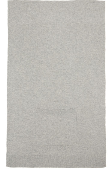 T by Alexander Wang - Grey Cashwool Patch Pocket Scarf