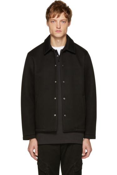 T by Alexander Wang - Black Neoprene Scuba Jacket
