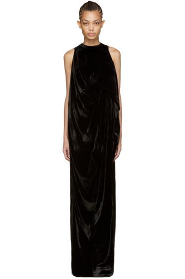 Rick Owens - Black Velvet La Brea Dress
