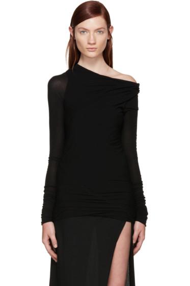 Rick Owens - Black Jersey Asymmetrical T-Shirt