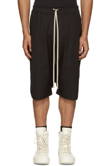 Rick Owens - Black Pods Shorts