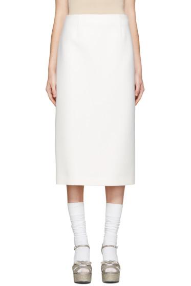 Jil Sander - Ivory Wool Bourgeois Skirt