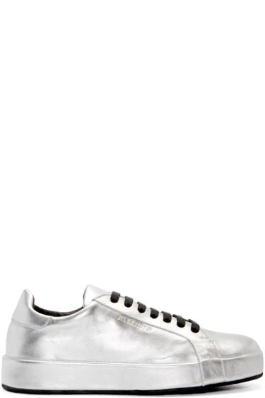 Jil Sander - Silver Leather Miro Sneakers