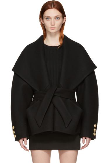 Balmain - Black Belted Jacket