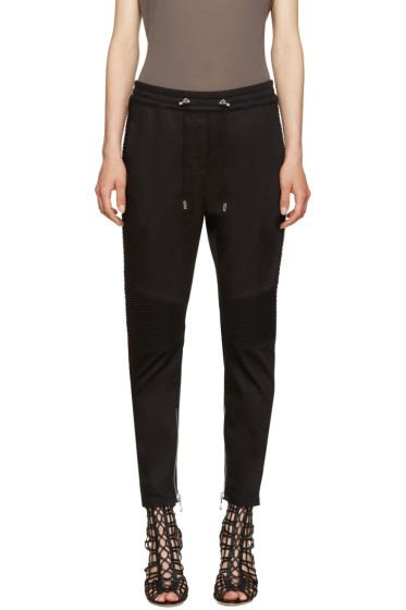Balmain - Black Twill Jogger Lounge Pants