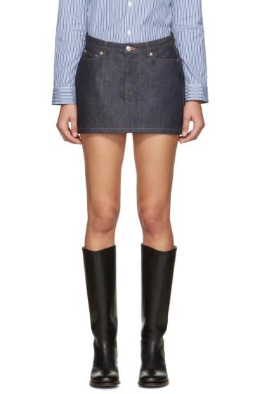 A.P.C. - Indigo Mini Denim Skirt