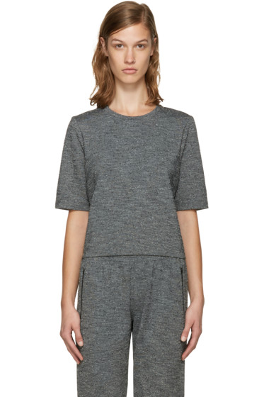 A.P.C. x Outdoor Voices - Grey Fitted Cropped T-Shirt