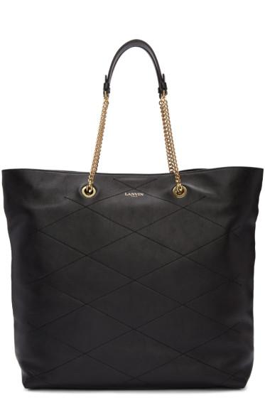 Lanvin - Black Leather Sugar Tote