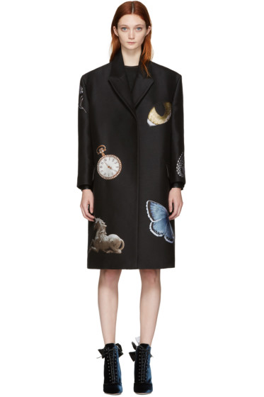 Alexander McQueen - Black Oversized Night Time Obsession Coat