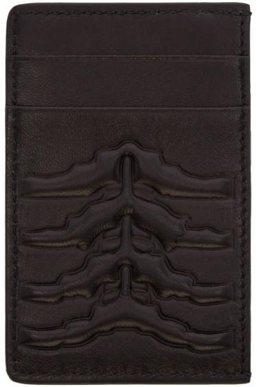 Alexander McQueen - Black Ribcage Card Holder