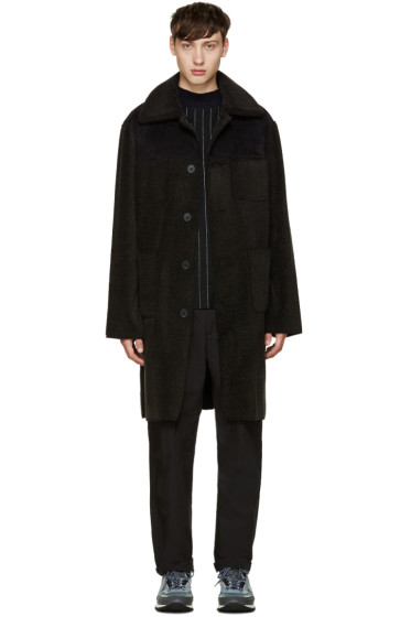 Opening Ceremony - Black Faux-Shearling Coat