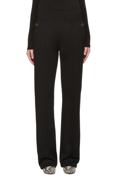 Givenchy - Black Gold Buttons Trousers