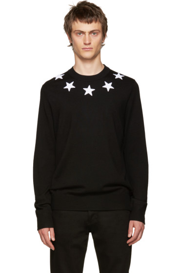 Givenchy - Black Wool Stars Sweater