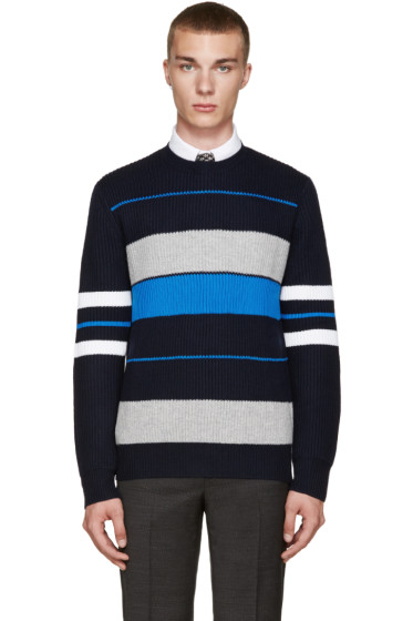 Givenchy - Navy Striped Sweater