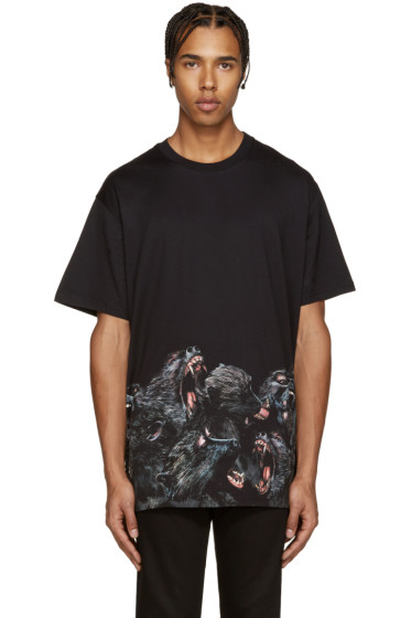 Givenchy - Black Monkey T-Shirt