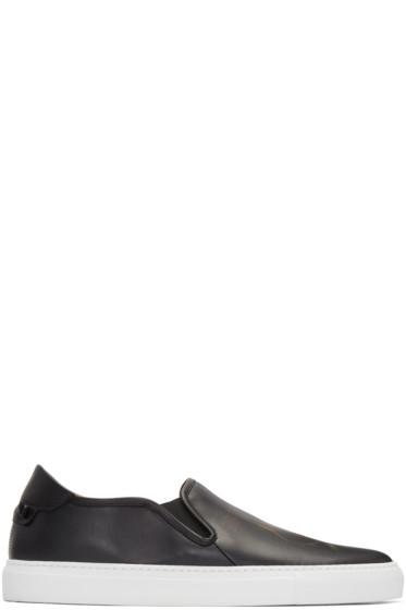 Givenchy - Black Skull Slip-On Sneakers