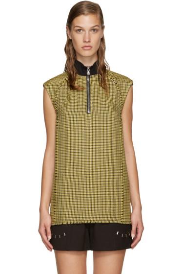 3.1 Phillip Lim - Yellow Wool Houndstooth Vest
