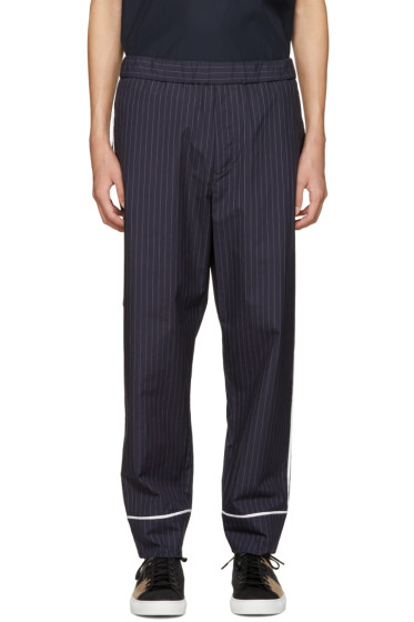 3.1 Phillip Lim - Navy Pinstripe Trousers