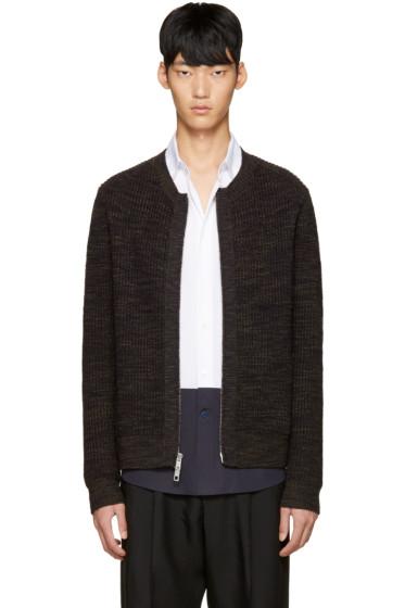 3.1 Phillip Lim - Navy Wool Zip-Up Sweater