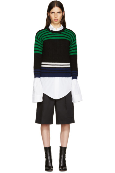 Raf Simons - Black Wool Stripes Sweater
