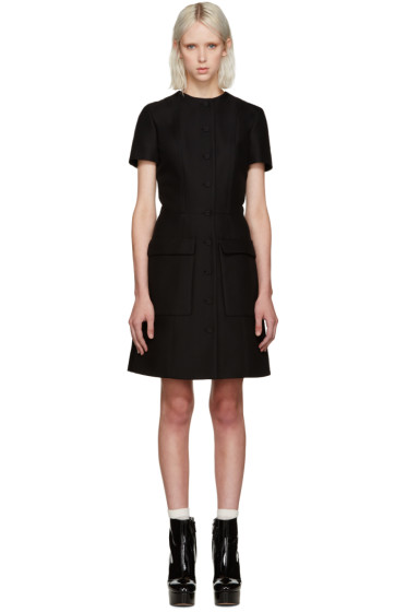 Carven - Black Buttoned Dress