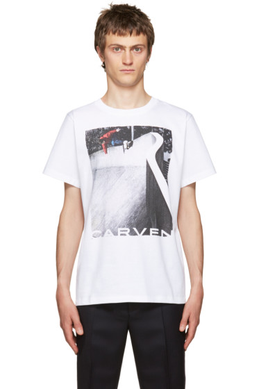 Carven - White Graphic T-Shirt