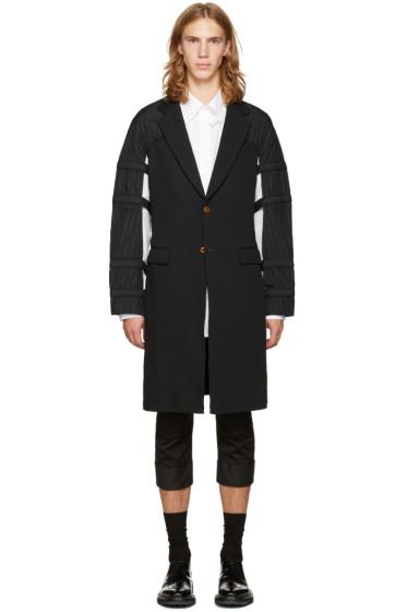Comme des Garçons Homme Plus - Black Jacquard Straps Coat