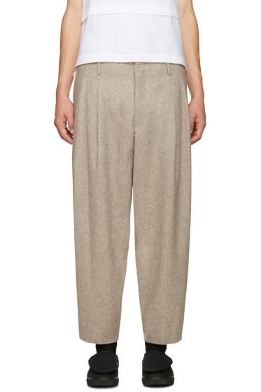 Comme des Garçons Homme Plus - Beige Flannel Trousers