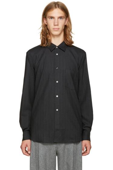 Comme des Garçons Homme Plus - Grey Wool Striped Shirt