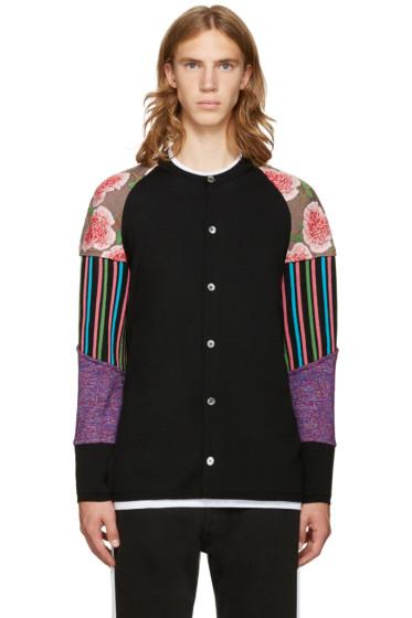 Comme des Garçons Homme Plus - Black Floral Sleeves Cardigan