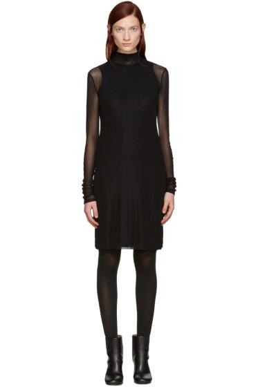 BLK DNM - Black Mesh Layered Dress