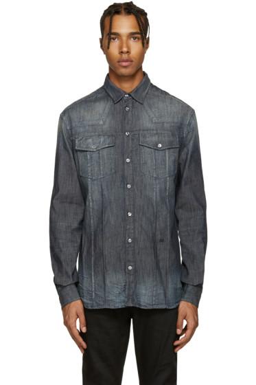 Pierre Balmain - Indigo Washed Denim Shirt