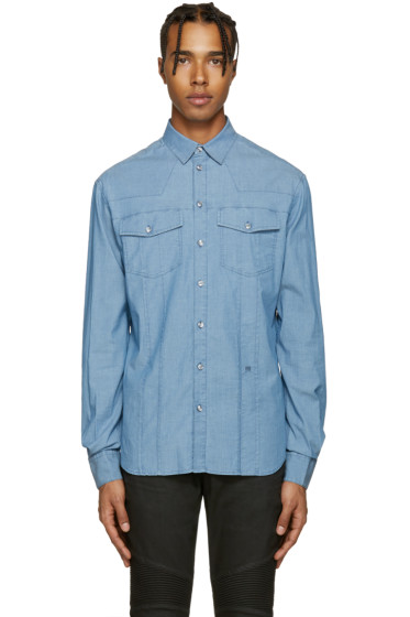 Pierre Balmain - Blue Chambray Shirt