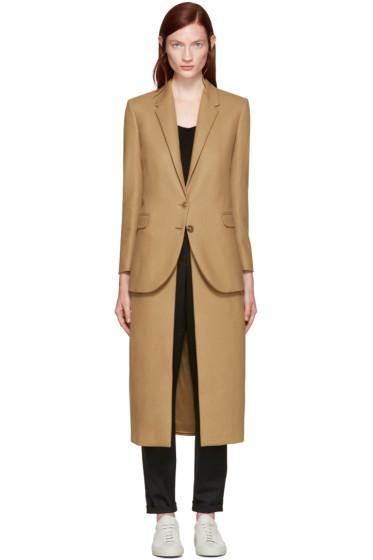 Neil Barrett - Camel Layered Wool Coat