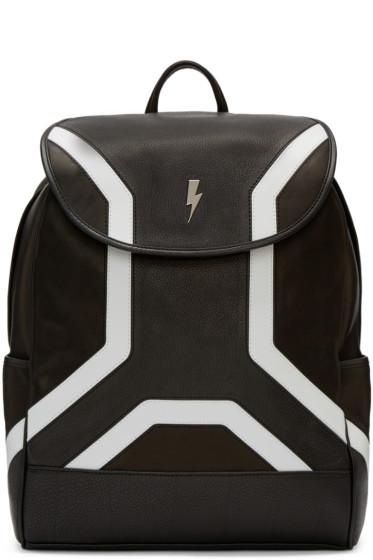 Neil Barrett - Black Leather Backpack