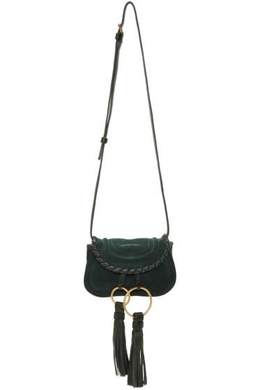 See by Chloé - Green Suede Mini Tassel Bag