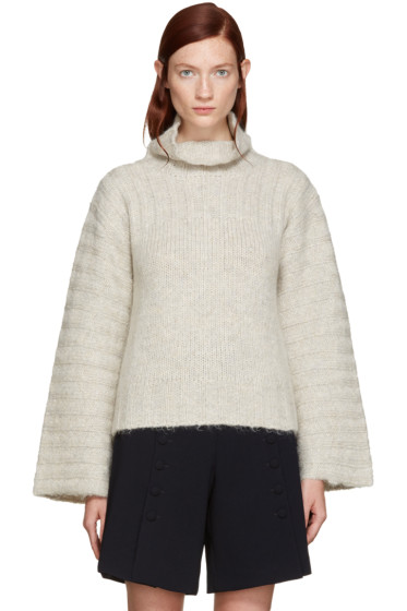See by Chloé - Grey Mohair Turtleneck