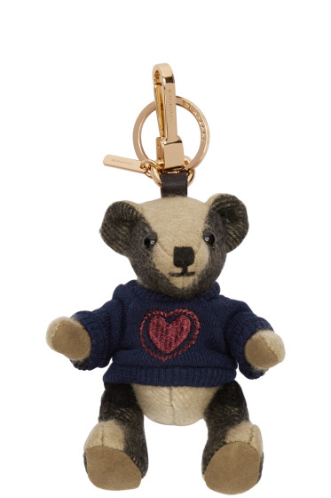 Burberry - Tan Heart Jumper Thomas Keychain