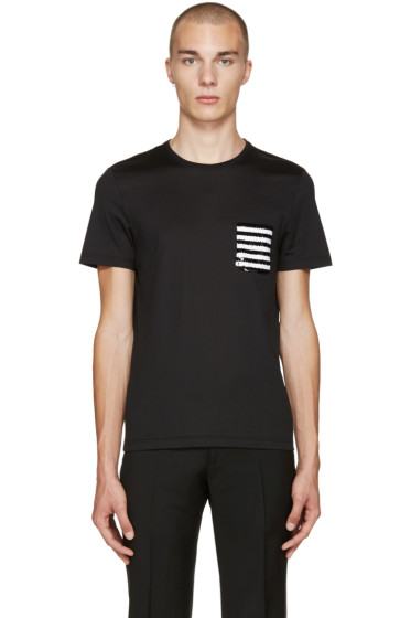 Burberry - Black Sequin Pocket T-Shirt