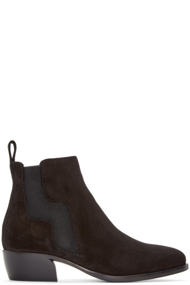 Pierre Hardy - Black Suede Ankle Boots