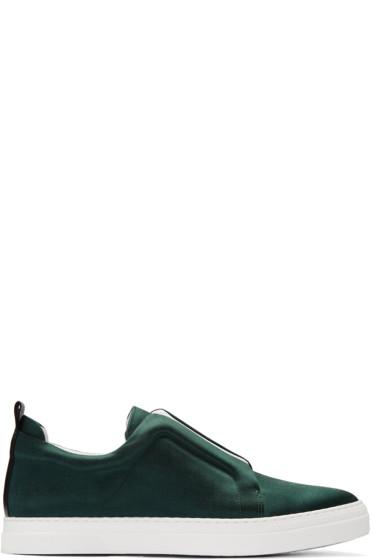 Pierre Hardy - Green Satin Slider Sneakers