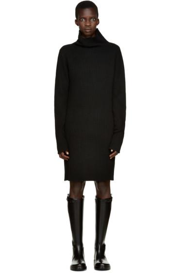 Ann Demeulemeester - Black Wool Terrence Dress