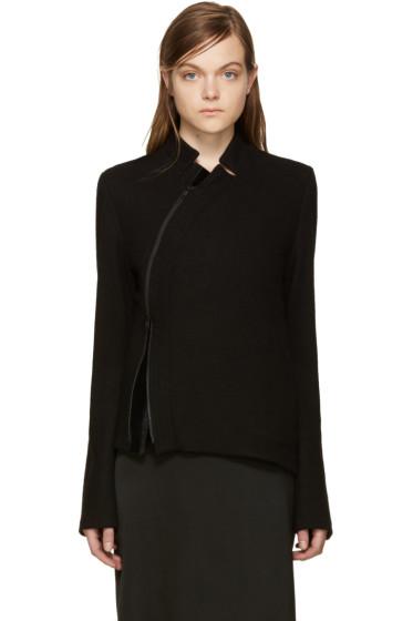Ann Demeulemeester - Black Asymmetric Jacket