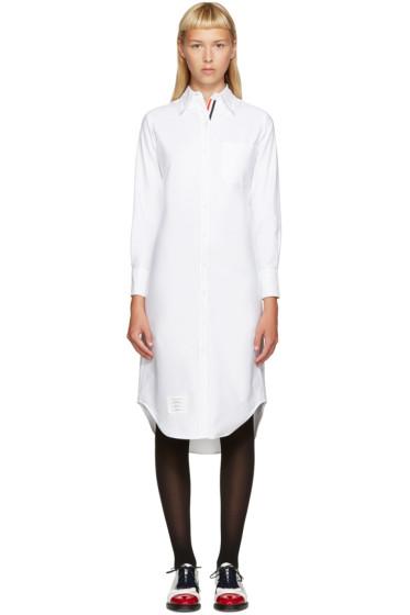 Thom Browne - White Oxford Shirt Dress