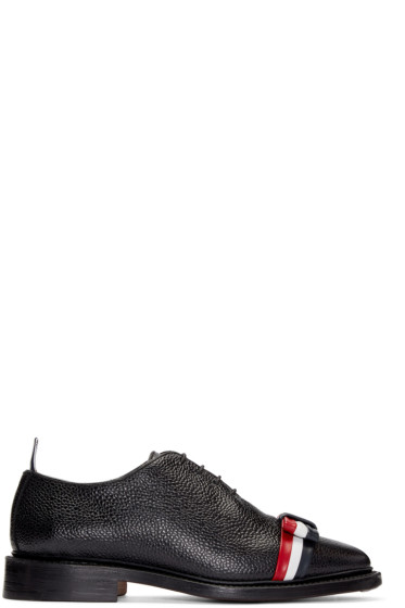 Thom Browne - Black Leather Bow Oxfords