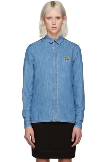 Kenzo - Blue Denim Tiger Shirt